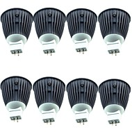 8PCS 4.5W 600 lm MR16 LED ضوء سبوت 1 الأضواء COB أبيض دافئ أبيض كول DC 12V