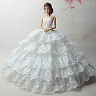 cheap Dolls & Stuffed Toys-Wedding Dresses For Barbie Doll Dresses For Girl's Doll Toy