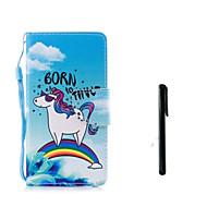 Недорогие Кейсы для iPhone 8 Plus-Кейс для Назначение Apple iPhone X iPhone 8 Бумажник для карт Кошелек Флип Чехол единорогом Твердый Кожа PU для iPhone X iPhone 8 Pluss