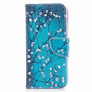Недорогие Чехлы и кейсы для Galaxy A7(2017)-Кейс для Назначение SSamsung Galaxy A8 2018 A8 Plus 2018 Бумажник для карт Кошелек со стендом С узором Чехол Цветы Твердый Кожа PU для A3