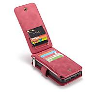 Недорогие Чехлы и кейсы для Galaxy S9 Plus-Кейс для Назначение SSamsung Galaxy S9 Plus Бумажник для карт Кошелек со стендом Флип Чехол Сплошной цвет Твердый Настоящая кожа для S9