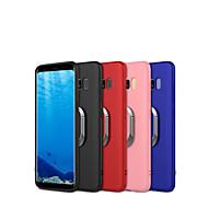 Недорогие Чехлы и кейсы для Galaxy S8-Кейс для Назначение SSamsung Galaxy S9 S9 Plus Кольца-держатели Матовое Кейс на заднюю панель броня Мягкий ТПУ для S9 Plus S9 S8 Plus S8