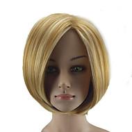 お買い得  -人工毛ウィッグ ストレート ブロンド ボブスタイル・ヘアカット 合成 ハイライト / バレイヤージュヘア ブロンド かつら 女性用 ショート キャップレス ブロンド hairjoy