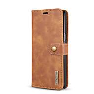 お買い得  -ケース 用途 Samsung Galaxy Note 8 カードホルダー スタンド付き フリップ フルボディーケース 純色 ハード 本革 のために Note 8