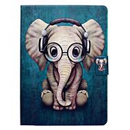 Недорогие Чехлы и кейсы для Galaxy Tab 3 10.1-Кейс для Назначение SSamsung Galaxy Tab 3 10.1 Бумажник для карт со стендом Флип С узором Чехол Слон Твердый Кожа PU для Tab 3 10.1