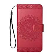 Недорогие Кейсы для iPhone 8 Plus-Кейс для Назначение Apple iPhone X iPhone 8 Plus Бумажник для карт Кошелек со стендом Чехол Сплошной цвет Твердый Кожа PU для iPhone X