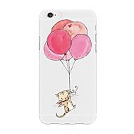 Недорогие Кейсы для iPhone 8-Кейс для Назначение Apple iPhone X iPhone 8 Plus С узором Кейс на заднюю панель Воздушные шары Мультипликация Животное Мягкий ТПУ для