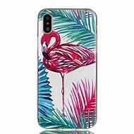 Недорогие Кейсы для iPhone 8-Кейс для Назначение Apple iPhone X iPhone 8 С узором Кейс на заднюю панель Фламинго Мягкий ТПУ для iPhone X iPhone 8 Pluss iPhone 8