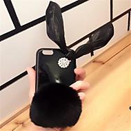 Недорогие Кейсы для iPhone 8 Plus-Кейс для Назначение Apple iPhone X iPhone 7 Plus Стразы Кейс на заднюю панель Однотонный Мягкий ТПУ для iPhone X iPhone 8 Pluss iPhone 8