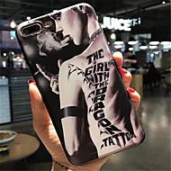 Недорогие Кейсы для iPhone 8 Plus-Кейс для Назначение Apple iPhone 6 Plus iPhone 7 Plus С узором Кейс на заднюю панель Соблазнительная девушка Мягкий ТПУ для iPhone 8
