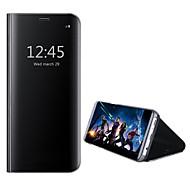 Недорогие Чехлы и кейсы для Galaxy А-Кейс для Назначение SSamsung Galaxy A8 2018 A8 Plus 2018 со стендом Зеркальная поверхность Чехол Сплошной цвет Твердый Кожа PU для