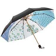 abordables Accesorios para la Lluvia-Tejido Mujer Soleado y lluvioso / A prueba de Viento Paraguas de Doblar