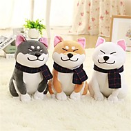 1PC Wear scarf Shiba Inu Dog Stuffed Animal Plush Toy Animals Lovely Comfy Exquisite Gift