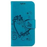 Недорогие Кейсы для iPhone 8-Кейс для Назначение Apple iPhone X iPhone 8 Бумажник для карт Кошелек со стендом Флип Рельефный Чехол Сплошной цвет Бабочка Твердый Кожа