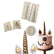olcso Konyhai eszközök-5pcs Mások Cake Szilikon DIY Karácsony 3D süteményformákba