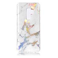 Недорогие Чехлы и кейсы для Galaxy S7 Edge-Кейс для Назначение SSamsung Galaxy S9 S9 Plus Покрытие IMD С узором Кейс на заднюю панель Мрамор Мягкий ТПУ для S9 Plus S9 S8 Plus S8 S7