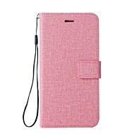 Недорогие Чехлы и кейсы для Galaxy S7 Edge-Кейс для Назначение SSamsung Galaxy S8 Plus S8 Бумажник для карт Кошелек со стендом Флип Чехол Сплошной цвет Твердый Кожа PU для S8 Plus