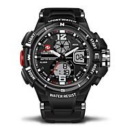 abordables Relojes Deportivos-Hombre / Mujer Reloj Casual / Reloj Deportivo Japonés Calendario / Resistente al Agua / Dos Husos Horarios Caucho Banda Lujo Negro / Cronómetro