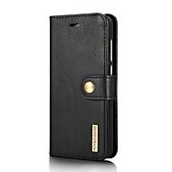 お買い得  -ケース 用途 Huawei P8 Lite(2017) カードホルダー スタンド付き フリップ フルボディーケース 純色 ハード 本革 のために P8 Lite (2017)