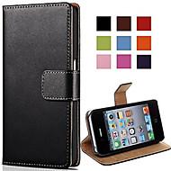 Недорогие Кейсы для iPhone 8-Кейс для Назначение Apple iPhone X iPhone 8 Бумажник для карт со стендом Флип Чехол Сплошной цвет Твердый Кожа PU для iPhone X iPhone 8