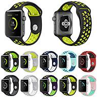 hesapli Günlük Fırsatlar-Watch Band için Apple Watch Series 4/3/2/1 Apple Spor Bantları Silikon Bilek Askısı