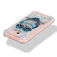 Недорогие Чехлы и кейсы для Galaxy A7(2017)-Кейс для Назначение SSamsung Galaxy A7(2017) A5(2017) Защита от удара Движущаяся жидкость С узором Кейс на заднюю панель Сияние и блеск