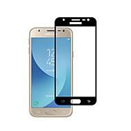 Недорогие Защитные пленки для Samsung-Защитная плёнка для экрана Samsung Galaxy для J3 (2017) Закаленное стекло 1 ед. Защитная пленка для экрана 3D закругленные углы 2.5D