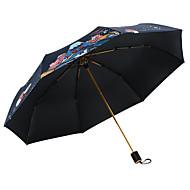 abordables Accesorios para la Lluvia-Tejido Mujer Soleado y lluvioso / A prueba de Viento / nuevo Paraguas de Doblar