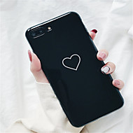 abordables Estuches Cool & Fashion para iPhone-Funda Para Apple iPhone X / iPhone 7 Plus Diseños Funda Trasera Corazón Suave TPU para iPhone X / iPhone 8 Plus / iPhone 8