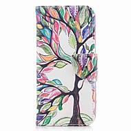 Недорогие Чехлы и кейсы для Galaxy A7(2017)-Кейс для Назначение SSamsung Galaxy A8 2018 A8 Plus 2018 Бумажник для карт Кошелек со стендом С узором Чехол дерево Твердый Кожа PU для