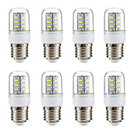 BRELONG® 8pcs 3W 270 lm E14 E26/E27 LED Corn Lights 24 leds SMD 5730 Warm White White 220-240V