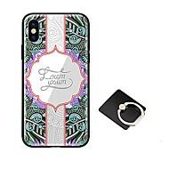 Недорогие Кейсы для iPhone 8 Plus-Кейс для Назначение Apple iPhone X iPhone 8 со стендом Ультратонкий С узором Кейс на заднюю панель Мандала Твердый Закаленное стекло для