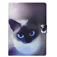 cheap iPad  Cases / Covers-Case For Apple iPad 10.5 iPad Pro 9.7 Card Holder with Stand Flip Pattern Full Body Cases Cat Hard PU Leather for iPad Mini 4 iPad Mini