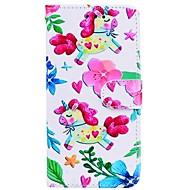 Недорогие Кейсы для iPhone 8 Plus-Кейс для Назначение Apple iPhone X iPhone 6 Бумажник для карт Флип С узором Чехол единорогом Твердый Кожа PU для iPhone X iPhone 8 Pluss