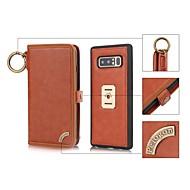 Недорогие Чехлы и кейсы для Galaxy Note-Кейс для Назначение SSamsung Galaxy Note 8 Бумажник для карт Кошелек Защита от удара со стендом Флип Чехол Сплошной цвет Твердый Кожа PU
