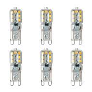 お買い得  -BRELONG® 6本 2W 200lm G9 LED2本ピン電球 14 LEDビーズ SMD 2835 温白色 ホワイト 220-240V