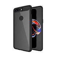 お買い得  携帯電話ケース-ケース 用途 OnePlus OnePlus 5T 5 耐衝撃 半透明 バックカバー 純色 ハード PC のために One Plus 5 OnePlus 5T