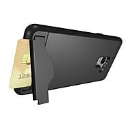 Недорогие Чехлы и кейсы для Galaxy А-Кейс для Назначение SSamsung Galaxy A8 Plus 2018 Бумажник для карт со стендом Кейс на заднюю панель Сплошной цвет Твердый ПК для A8+ 2018