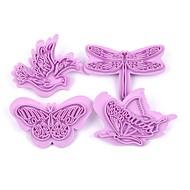 お買い得  キッチン用小物-ベークツール プラスチック 3D / 誕生日 / サンクスギビング クッキー / Cupcake / ケーキのための ベーキング&ペストリーツール / クッキーカッター 4本