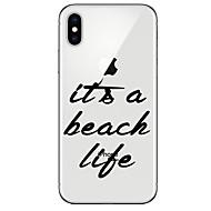 Недорогие Кейсы для iPhone 8-Кейс для Назначение Apple iPhone X / iPhone 8 Ультратонкий / Прозрачный / С узором Кейс на заднюю панель Слова / выражения Мягкий ТПУ для iPhone X / iPhone 8 Pluss / iPhone 8