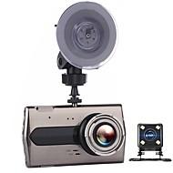 Недорогие Видеорегистраторы для авто-t667 двойной объектив автомобиль dvr авто камера автомобили dvrs тире камера черный ящик видеокамера fhd 1080p рекордер видео регистратор каркас
