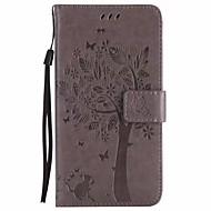 Недорогие Чехлы и кейсы для Galaxy Note 8-Кейс для Назначение SSamsung Galaxy Note 8 Кошелек со стендом Флип Чехол Цветы дерево Твердый Кожа PU для Note 8