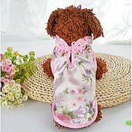 hesapli Ev Sakinleri ve Evcil Hayvanlar-Köpekler Kediler Paltolar Köpek Giyimi Nakışlı Yeşil Pembe İpek Kostüm Evcil hayvanlar için Bayan Şık Etniczne