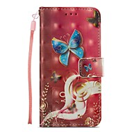 Недорогие Кейсы для iPhone 8-Кейс для Назначение Apple iPhone X iPhone 8 Plus Бумажник для карт Кошелек со стендом Флип Магнитный Чехол Бабочка Твердый Кожа PU для