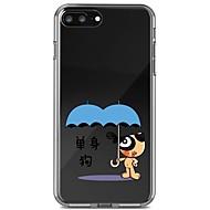 Недорогие Кейсы для iPhone 8 Plus-Кейс для Назначение Apple iPhone X iPhone 8 Прозрачный С узором Кейс на заднюю панель Слова / выражения Животное Мягкий ТПУ для iPhone X