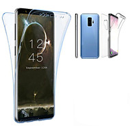 Недорогие Чехлы и кейсы для Galaxy S9 Plus-Кейс для Назначение SSamsung Galaxy S9 Plus / S9 Полупрозрачный Чехол Однотонный Мягкий ТПУ для S9 / S9 Plus / S8 Plus