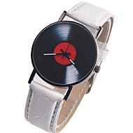 abordables Bijoux & Montres-Femme Montre Bracelet Chinois Chronographe / Créatif / Grand Cadran Cuir Bande Rétro Noir / Blanc / Rouge
