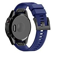 Недорогие Аксессуары для смарт-часов-Ремешок для часов для Fenix 5x Garmin Современная застежка силиконовый Повязка на запястье