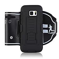 Недорогие Чехлы и кейсы для Galaxy S7-Кейс для Назначение SSamsung Galaxy S8 S7 edge Спортивныеповязки Бумажник для карт Защита от удара С ремешком на руку Однотонный Мягкий