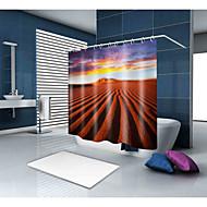 お買い得  浴室用小物-シャワーカーテン&フック バロック調 新古典主義 ポリエステル ソリッド ノベルティ柄 機械製 防水 浴室